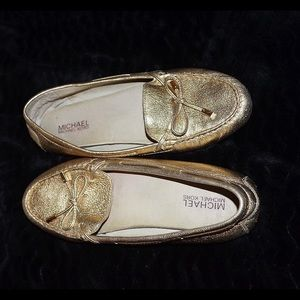 Gold Michael Kors Gold Loafers